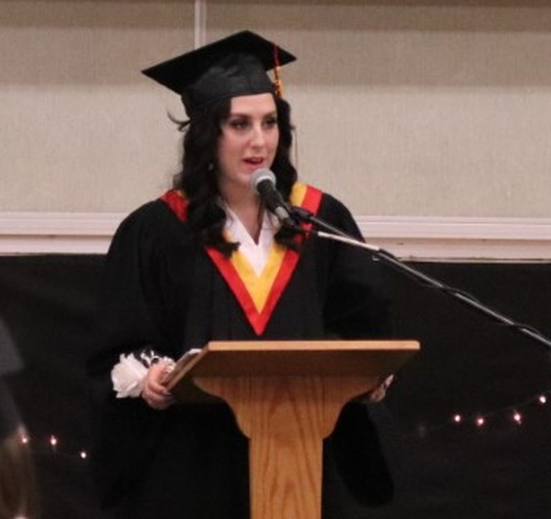 """""""Go and change the world,"""" says class speaker"""