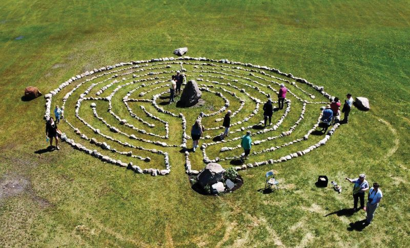 Moosomin's labyrinth open for public use.