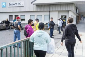 B.C. residents line up to get vaccine passports in-person