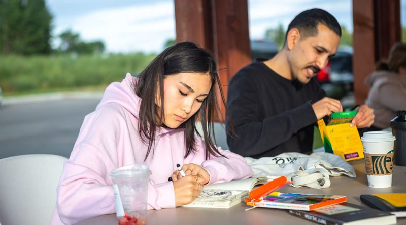 Family Resource Network hosts paint night in Kinsmen Park, first of what they hope to be many
